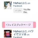 フェイスブックのページ